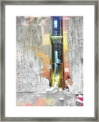 Framed Print featuring the mixed media Split by Tony Rubino