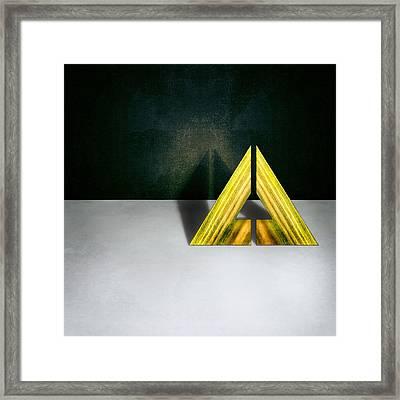 Split Triangle Green Framed Print by YoPedro