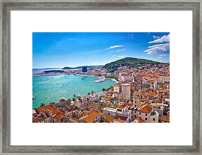Split Waterfront And Marjan Hill View Framed Print
