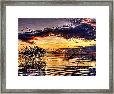 Splitting Sun Framed Print by Kim Shatwell-Irishphotographer
