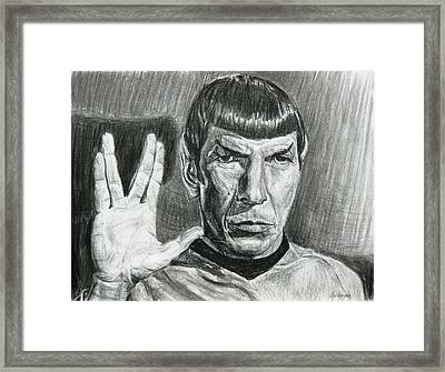 Spock Framed Print by Michael Morgan