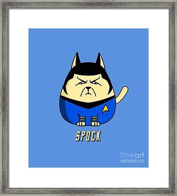 Spock The Cat Framed Print