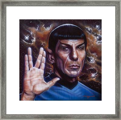 Spock Framed Print by Tim  Scoggins