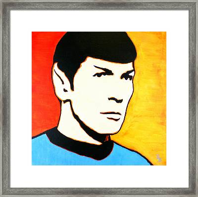 Spock Vulcan Star Trek Pop Art Framed Print