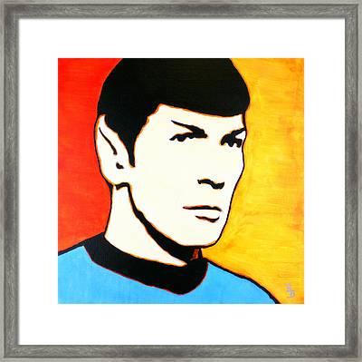 Spock Vulcan Star Trek Pop Art Framed Print