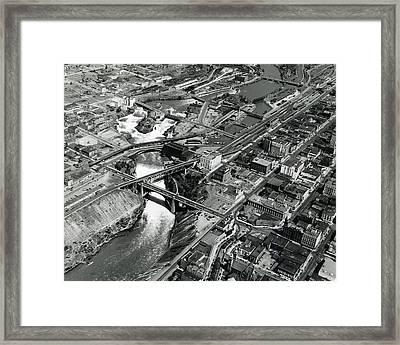 Spokane Aerial C. 1950 Framed Print