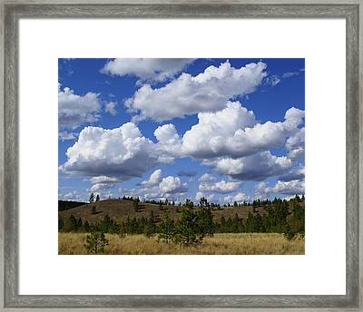 Spokane Cloudscape Framed Print by Ben Upham III