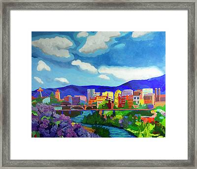 Spokane In Color Framed Print