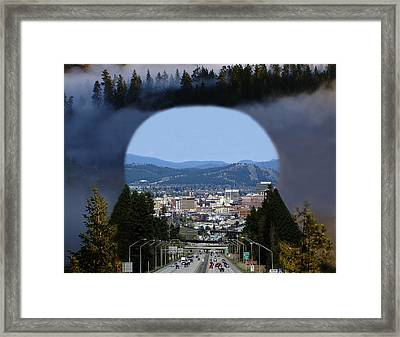 Framed Print featuring the photograph Spokane Near Perfect Nature by Ben Upham III