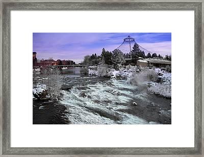 Spokane Pavilion Winter Framed Print