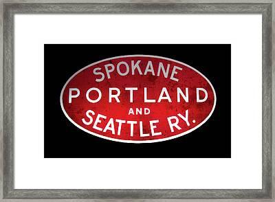 Spokane, Portland And Seattle Railway Sign  Framed Print