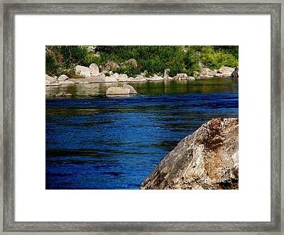 Spokane River Framed Print by Greg Patzer