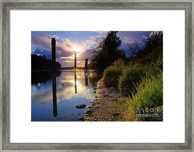Spokane River Framed Print