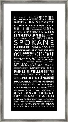 Spokane Washington Bus Roll Framed Print by Daniel Hagerman