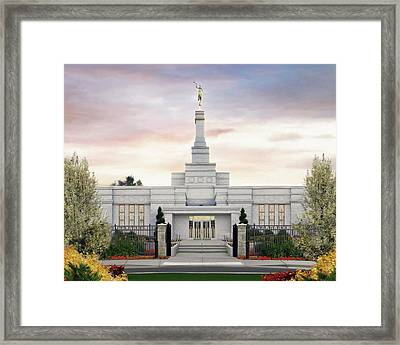 Spokane Washington Temple Framed Print