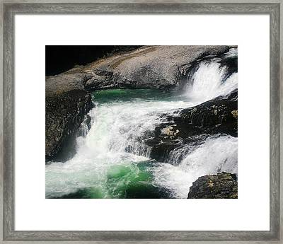 Spokane Water Fall Framed Print