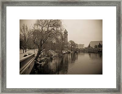Framed Print featuring the photograph Spokane Winter by Craig Perry-Ollila