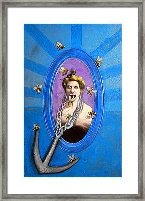 Spoke In Bees Framed Print