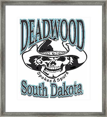 Spokes And Spurs Deadwood South Dakota Framed Print