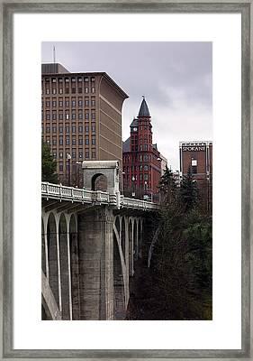 Spokesman Review Tower  1891 Framed Print