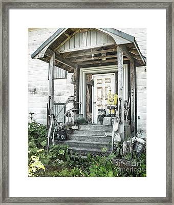 Spongebob On The Porch 2 Framed Print