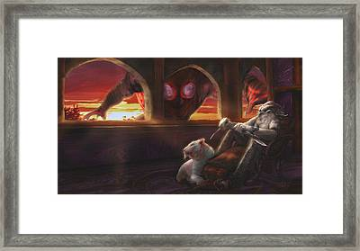 Spontaneous Tiefling Framed Print by Rick Ritchie