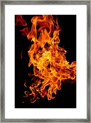 Spooky Hot Spirit Fire Michigan Framed Print by LeeAnn McLaneGoetz McLaneGoetzStudioLLCcom