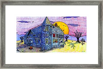 Spooky House Framed Print