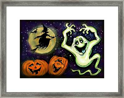 Framed Print featuring the painting Spooky by Kevin Middleton