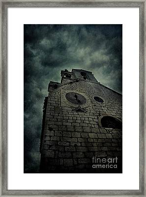 Spooky Medieval Church Framed Print