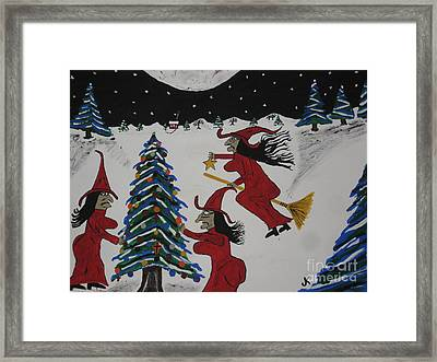 Spooky Merry Christmas Framed Print by Jeffrey Koss