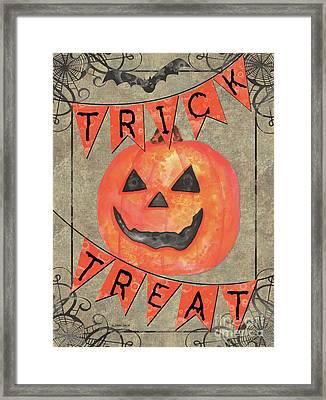 Spooky Pumpkin 1 Framed Print by Debbie DeWitt