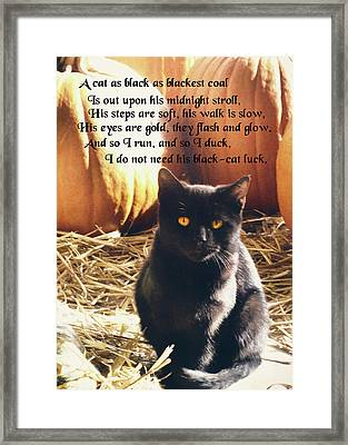 Spooky Quote Framed Print by JAMART Photography