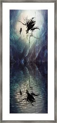 Spooky Abstract Framed Print by Tom Gowanlock