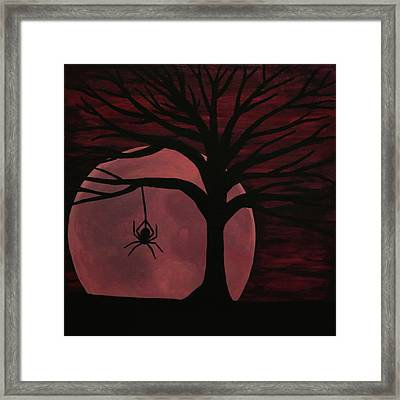 Spooky Spider Tree Framed Print