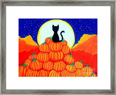 Spooky The Pumpkin King Framed Print by Nick Gustafson