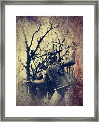 Spooky Tin Man Wizard Of Oz Framed Print
