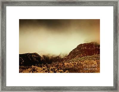 Spooky Vintage Mountain Scene Framed Print by Jorgo Photography - Wall Art Gallery