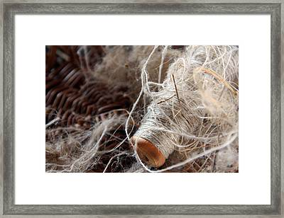 Framed Print featuring the photograph Spool Of Wool by Joanne Coyle