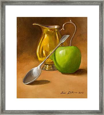 Spoon And Creamer  Framed Print by Joni Dipirro
