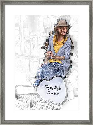 Spoon Lady And The Rounders Framed Print by John Haldane