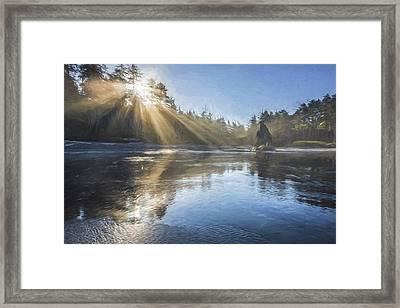 Spoon Of Morning Light II Framed Print by Jon Glaser