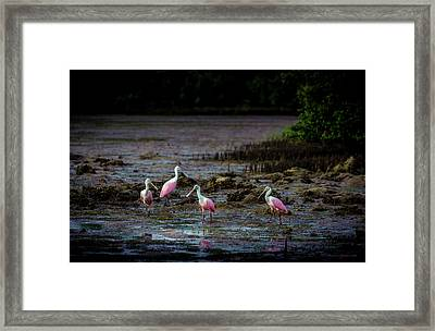 Spooning Party Framed Print