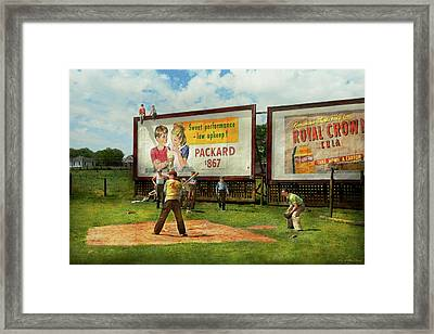 Sport - Baseball - America's Past Time 1943 Framed Print by Mike Savad