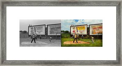 Sport - Baseball - America's Past Time 1943 - Side By Side Framed Print by Mike Savad