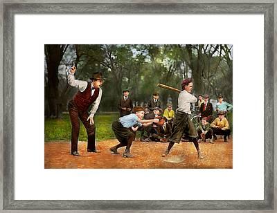 Sport - Baseball - Strike One 1921 Framed Print by Mike Savad