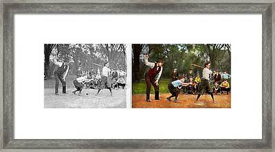 Sport - Baseball - Strike One 1921 - Side By Side Framed Print by Mike Savad