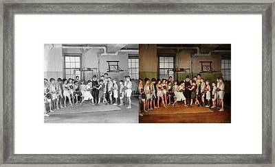 Framed Print featuring the photograph Sport - Boxing - Fists Of Fury 1924 - Side By Side by Mike Savad