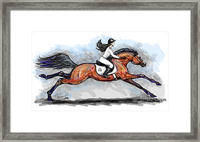 Sport Horse Rider Framed Print