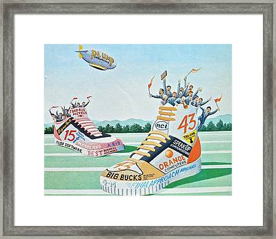 Sport Shoe Illustration Framed Print by John Houseman